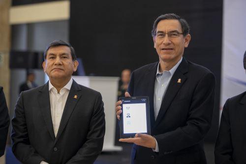 La presentación del Cerap Digital estuvo a cargo del presidente Martín Vizcarra y del ministro del Interior, Carlos Morán