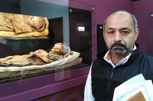 El director del Museo de Historia Natural y Cultural de la Universidad Privada Antenor Orrego, Guillermo Gayoso, indicó que la momia donada sería de la época Chimú.