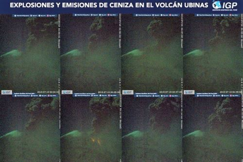 Explosiones del volcán Ubinas, en Perú, dejan más de 1300 afectados