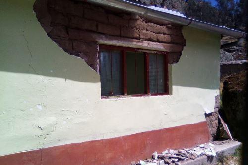 Dos instituciones educativas del distrito de Pampas Chico, provincia ancashina de Recuay, fueron afectadas por el sismo de magnitud 5.2 en Aija.