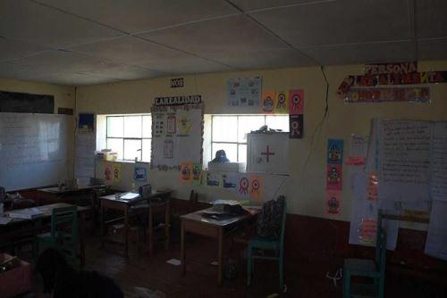 Movimiento telúrico de magnitud 4.5 ocasionó daños en instituciones educativas del distrito de Colca, región Junín.