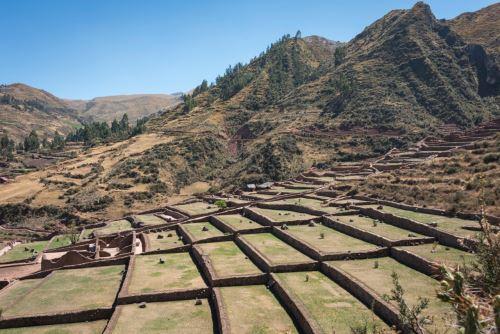 El sector Pukará Alto, ubicado en la parte superior del parque arqueológico Tipón (Cusco), está conformado por 43 andenes.