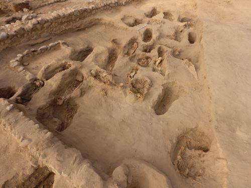 Los restos óseos fueron hallados en la zona de Pampa La Cruz, en Huanchaco.