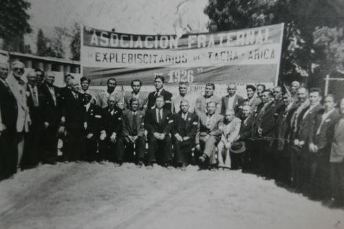 Reproduccio´n de fotografi´a  de la Asociacio´n de explebiscitarios de Tacna y Arica. Foto: Casa Museo Jorge Basadre.