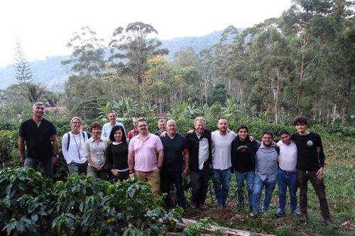 La delegación conoció la alta calidad de los cafés especiales que se producen en los valles de Junín y Pasco.