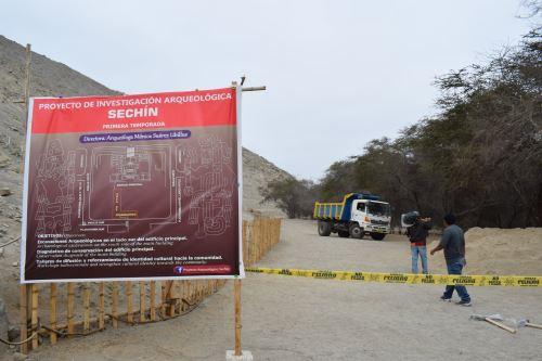 El Proyecto de Investigación Arqueológica Sechín empezó el 20 de agosto y culminará el 20 de octubre.