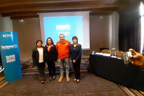 La directora de Promoción del Turismo de Promperú, Marisol Acosta, presentó la plataforma Turismo In en la ciudad de Trujillo.