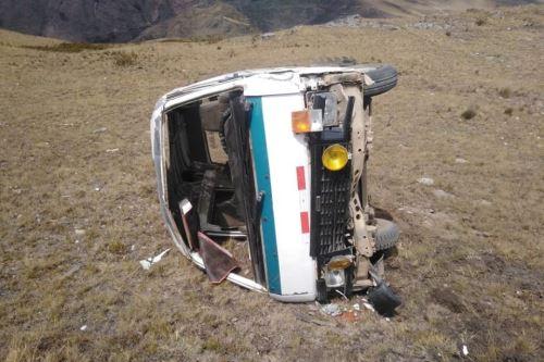 El accidente ocurrió en un desolado paraje de la carretera de penentración al centro poblado Ocopón.