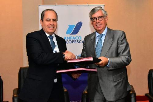Presidente de CPA, Alfonso Miranda y el secretario general de ANFACO-CECOPESCA, Juan Vieites