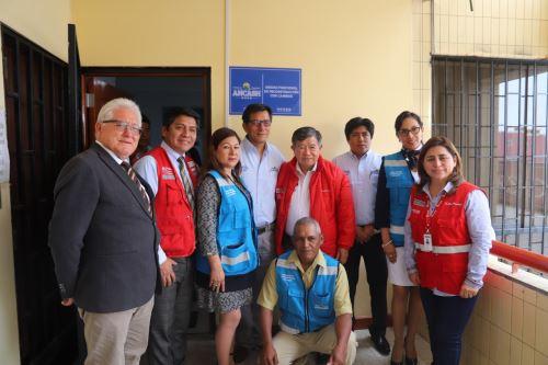 El director ejecutivo de la ARCC, Nelson Chui, inauguró la oficina de la Unidad Funcional de Reconstrucción con Cambios, en la sede del Gobiernoi Regional de Áncash.