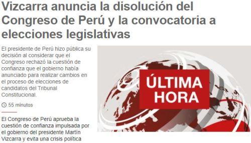 La BBC reportó así el anuncio de la disolución
