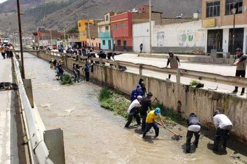 Como parte de la estrategia Perú Limpio, y en alianza con las municipalidades, se organizaron jornadas de limpieza de los ríos Collana, Huantay y Tarma.