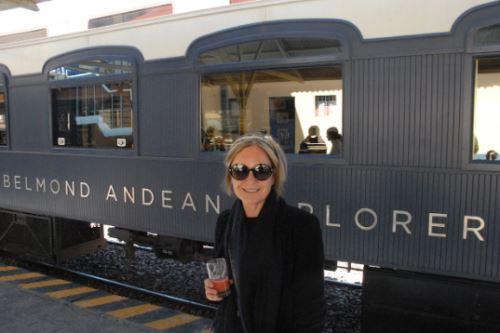 La periodista noruega-escocesa Mariella Frostrup calificó de 'extraordinaria' la experiencia vivida en su viaje en tren.