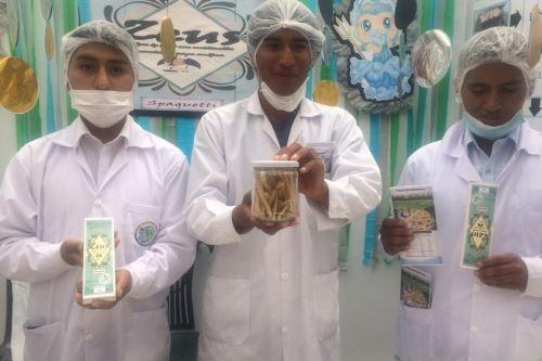 Tallarines de harina de papa andina fue otro de los productos que captaron la atención del público en Alimentaria Fest 2019 de Arequipa.