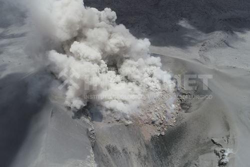 Según últimas estimaciones, el domo de lava del Sabancaya posee aproximadamente 4.6 millones metros cúbicos.