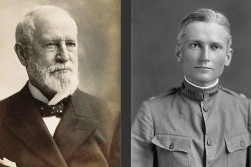 Charles Tiffany, fundador de la joyería Tiffany, y el expedicionario Hiram Bingham que dio a conocer Machu Picchu al mundo.