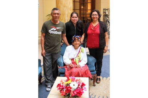 María Ángela Vela es una férrea promotora de la danza ancestral Las caihuas, de la provincia de Lamas, región San Martín.