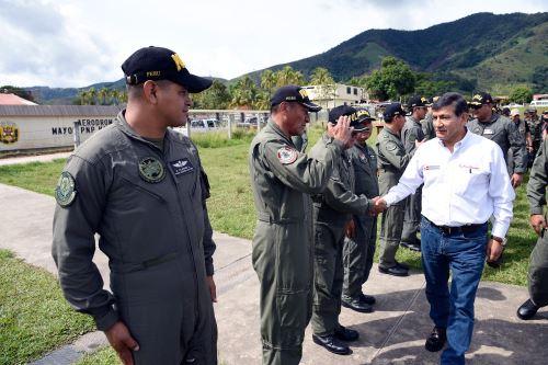 El ministro del Interior, Carlos Morán, destacó la labor de policías, militares y trabajadores del Corah.
