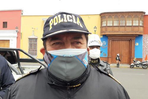 Jefe policial de la región La Libertd, coronel PNP Edwin Dávila.