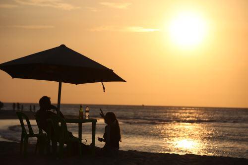 Paisaje de ensueño en el balneario de Máncora, en la región Piura.