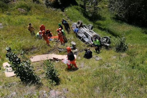 Accidente de tránsito ocasionó dos muertes y dos heridos en la región Áncash.