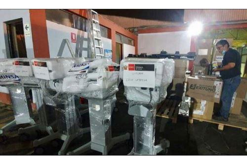 El Ministerio de Salud ha enviado 15 kits de camas UCI a las regiones de Piura y Lambayeque.