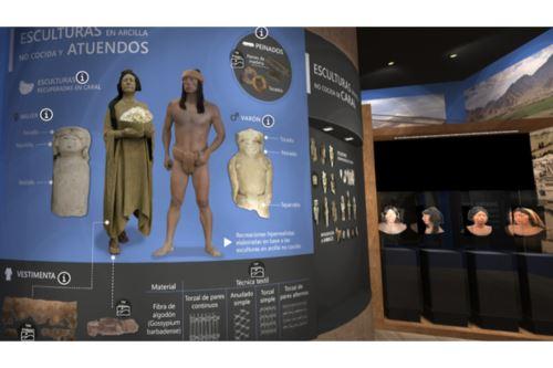 Además de infografías, fotos, ilustraciones y recreaciones, el Museo Civilización Caral ofrece videos, audios y dioramas.