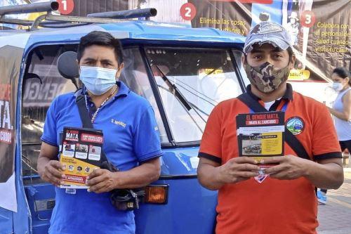 Cincuenta mototaxis, que pertenecen a seis asociaciones del distrito de Lurigancho, se sumaron a la iniciativa.
