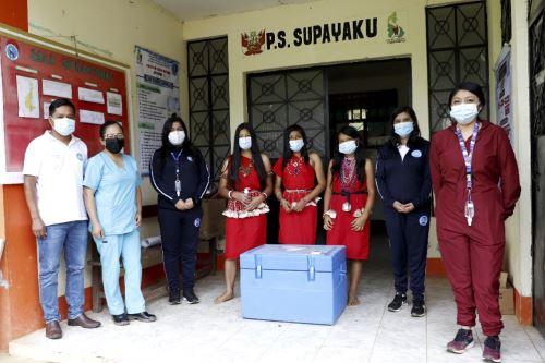 La Red de Salud San Ignacio (Cajamarca) recibió un total de 1,389 vacunas del laboratorio chino Sinopharm.