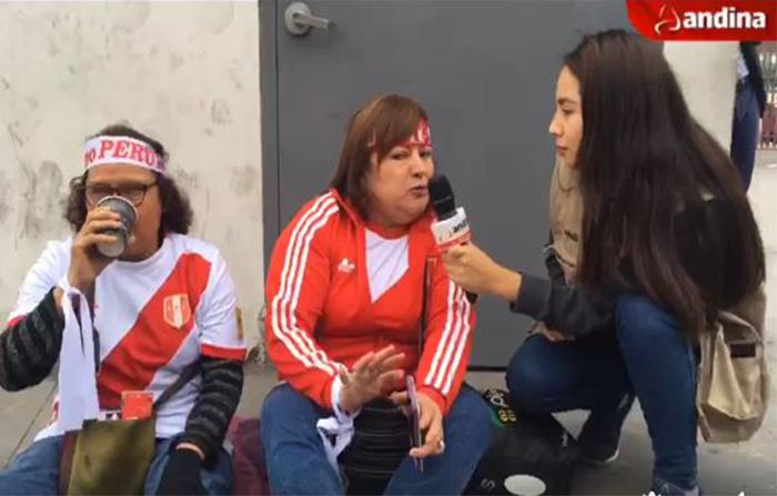 Desde el Estadio Nacional, hinchas comparten su score del partido Perú vs Australia
