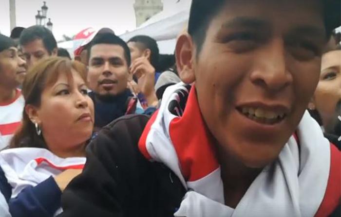Desde la Plaza de Armas de Lima, peruanos celebran triunfo de la Selección Peruana - FPF