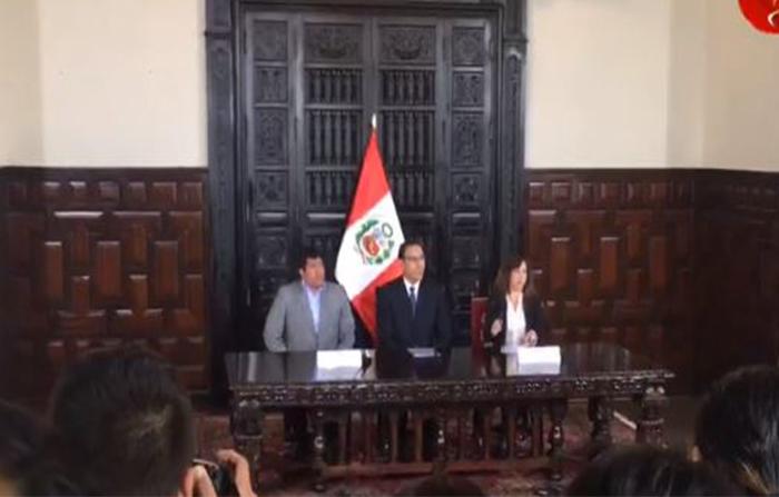 Pronunciamiento del presidente de la República, Martín Vizcarra tras culminar sesión del Consejo de Ministros.