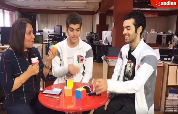 Estamos con los hermanos Juan Pablo (16) y Gianfranco Huanqui (21), Campeones Mundiales armando Megmix