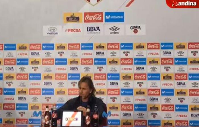 Conferencia de prensa del director técnico Ricardo Gareca sobre el balance de la participación de Perú en el mundial Rusia 2018.