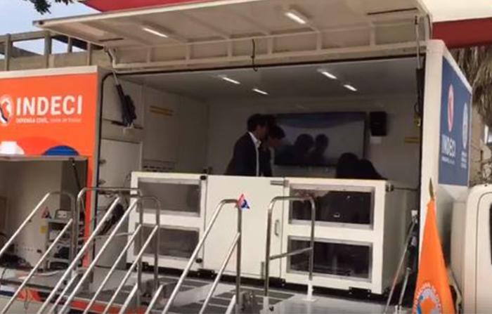 Desde la Universidad Nacional de Ingeniería, presentan el vehículo simulador sísmico de hasta 9 grados de magnitud, con la finalidad de realizar actividades de sensibilización a la población.