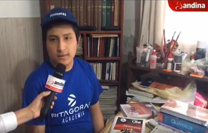 Conversamos con Bernabé Sánchez, el estudiante cajamarquino que ocupó el primer puesto en 4 universidades del país.