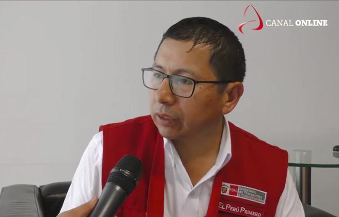 Ministro Edmer Trujillo habla sobre obras en el aeropuerto de Chiclayo.