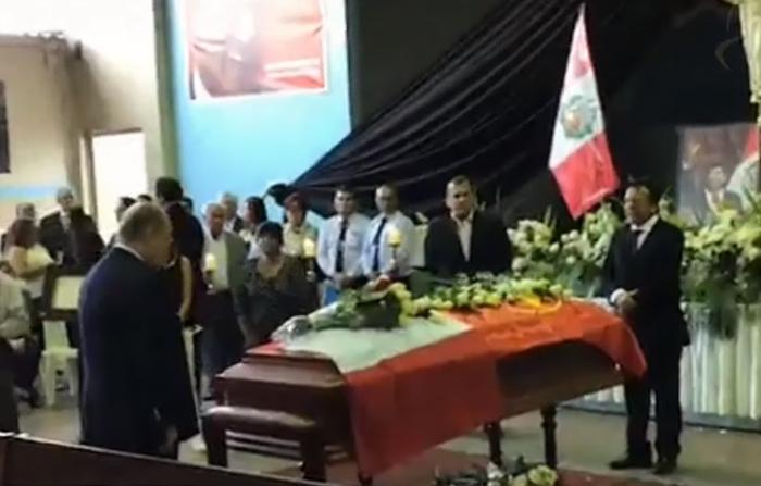 Alan García: Féretro del ex mandatario son velados en la sede del partido Aprista.