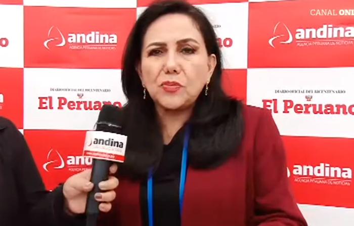 Entrevista a la ministra de la Mujer y Poblaciones Vulnerables, Gloria Montenegro
