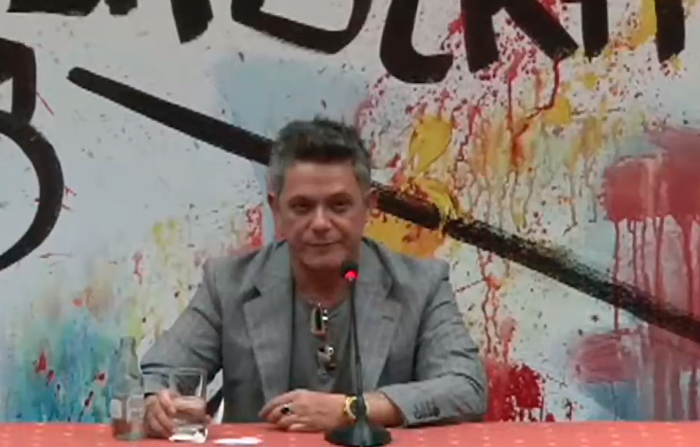 Conferencia de prensa de Alejandro Sanz