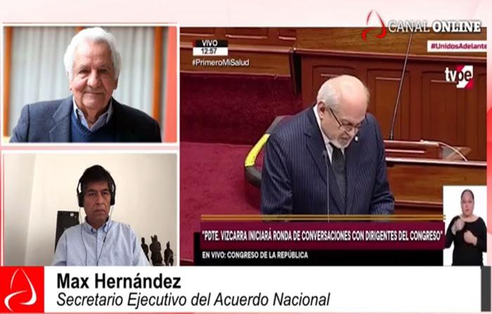 Acuerdo Nacional organizará agenda Pacto Perú