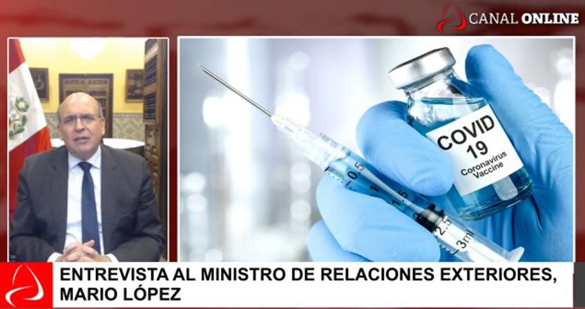Entrevista al ministro de Relaciones Exteriores, Mario López