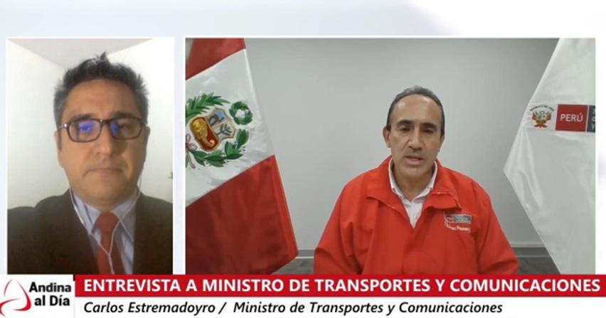 Entrevista a ministro de Transportes y Comunicaciones, Carlos Estremadoyro