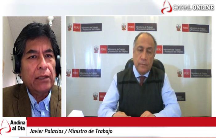 Entrevista al ministro de Trabajo, Javier Palacios