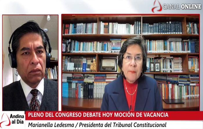 EN VIVO:¿Por qué se negó la medida cautelar al Presidente? Marianella Ledesma, presidenta del TC nos lo explica