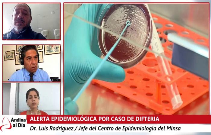EN VIVO: Minsa confirma caso de difteria en el Perú
