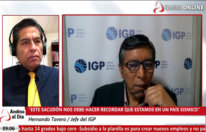 EN VIVO: IGP registra temblor en Lima