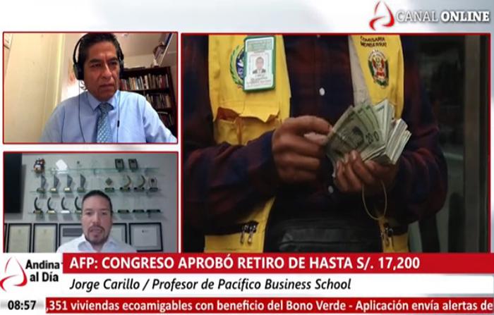 EN VIVO: AFP: Congreso aprueba retiro de hasta 17,200 de los fondos