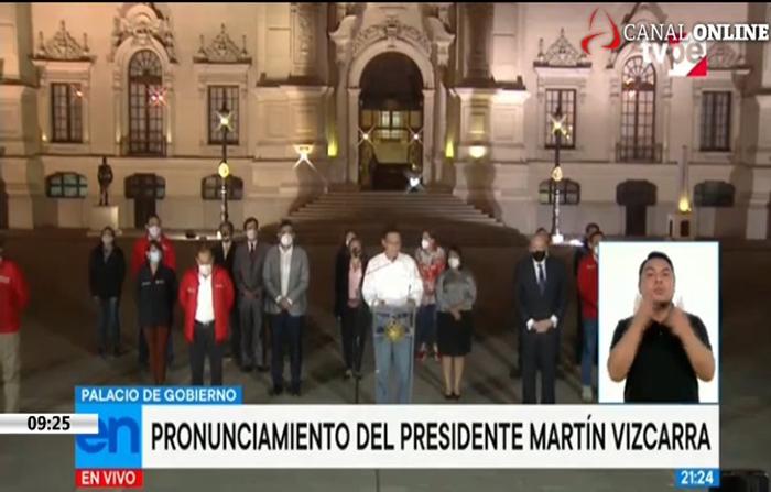 EN VIVO: Presidente Martin Vizcarra ofrece pronunciamiento