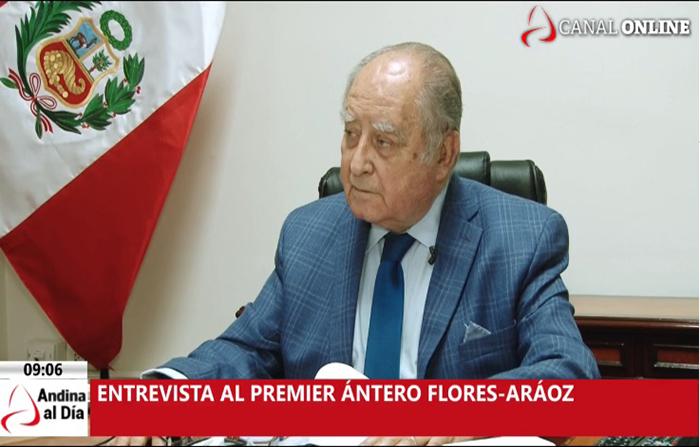 EN VIVO: Entrevista al presidente de Consejo de Ministros Ántero Flores-Aráoz